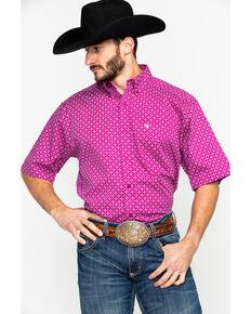 107aafc8 Ariat Men's Fernlund Stitch Geo Short Sleeve Western Shirt