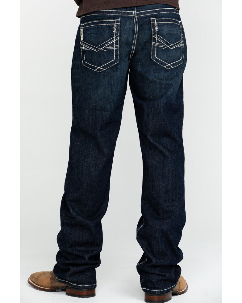 Cinch Men's Grant Dark Stone Dark Relaxed Bootcut Jeans , Indigo, hi-res