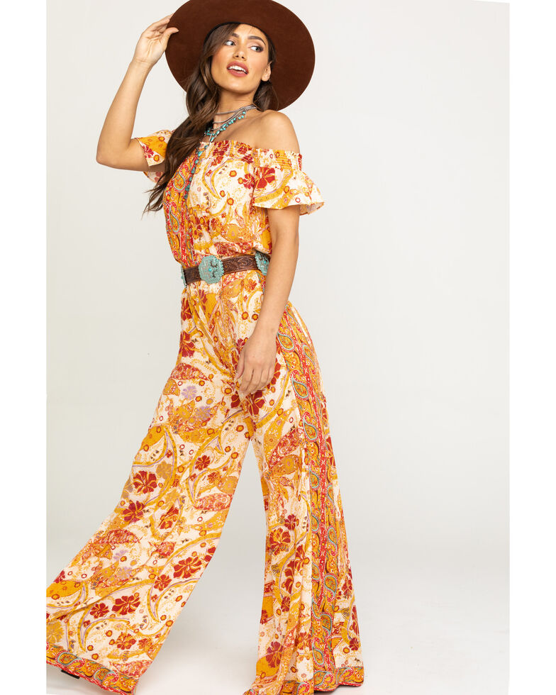 Free People Women's Carmen Jumpsuit, Dark Yellow, hi-res