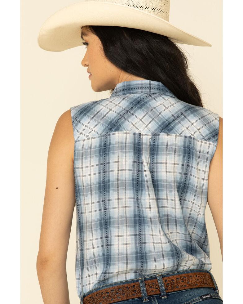 Ariat Women's Blue Plaid Audie Shirt, Blue, hi-res