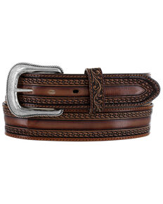 Tony Lama Men's Wild Bill Western Belt, Tan, hi-res