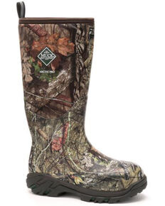Muck Boots Men's Arctic Pro Mossy Oak Rubber Boots - Round Toe, Moss Green, hi-res