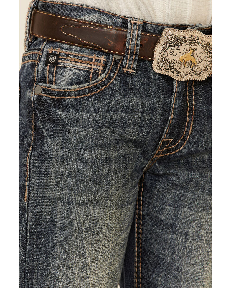 Rock & Roll Denim Boys' Medium Vintage Reflex Stretch Bootcut Jeans , Medium Blue, hi-res