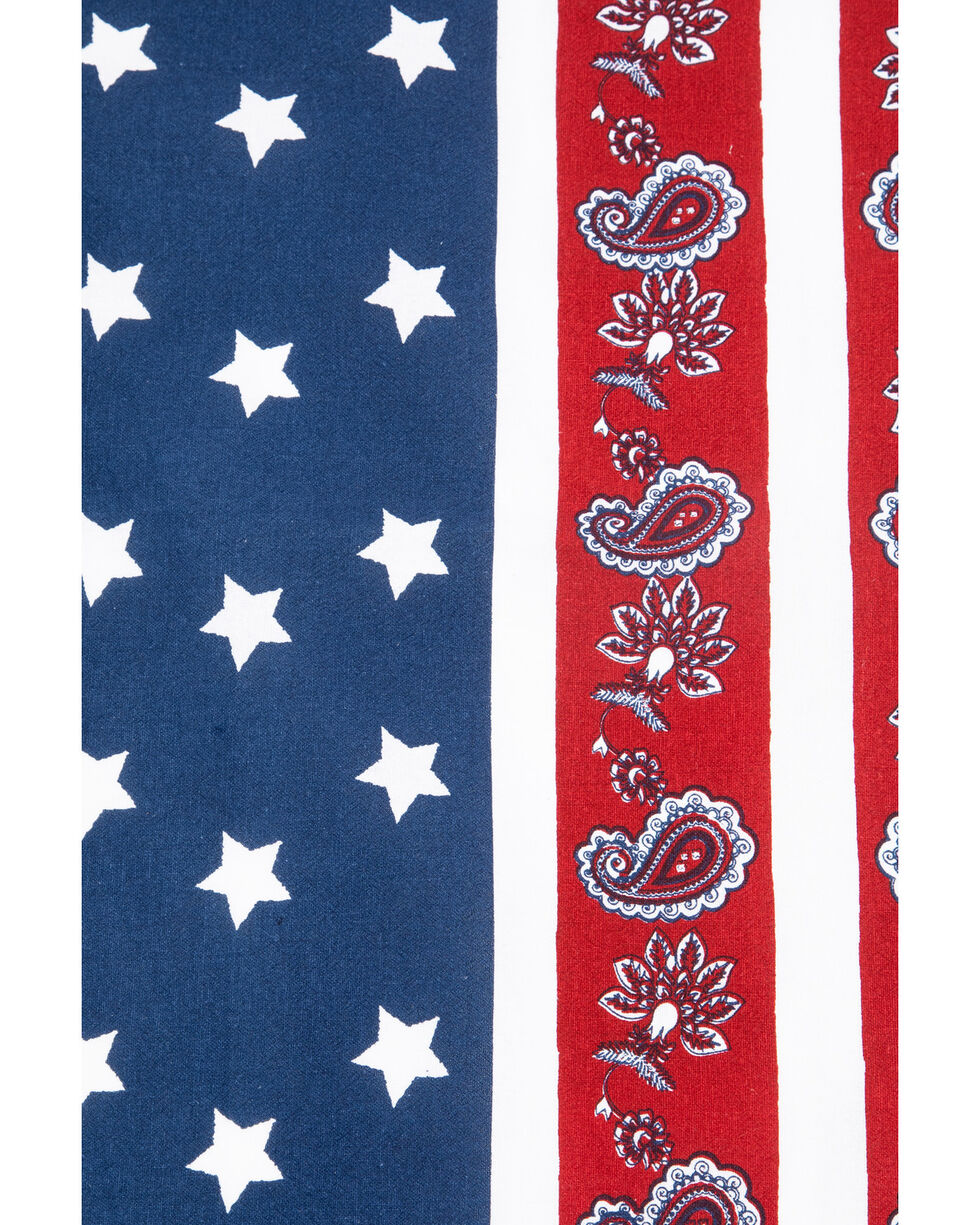 BB Ranch Americana Paisley Tea Towel, Multi, hi-res
