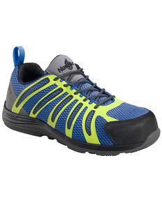 Nautilus Men's Blue Green Metal Free Wedge Sole Work Shoes - Composite Toe , Blue, hi-res