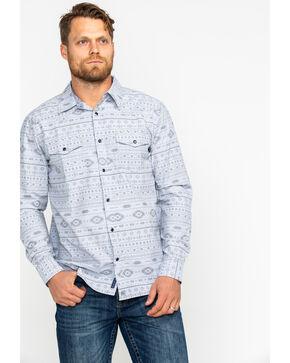 Moonshine Spirit Men's Aztec 2.0 Long Sleeve Western Shirt , Silver, hi-res