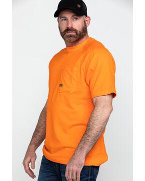 Ariat Men's Safety Orange Rebar Cotton Strong Short Sleeve Crew Work Shirt , Orange, hi-res