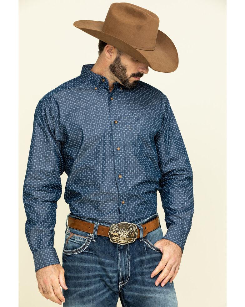 Ariat Men's Ingleton Diamond Geo Print Long Sleeve Western Shirt - Tall , , hi-res