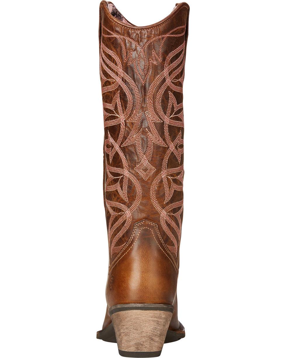 Ariat Women's Brown Sheridan Sassy Western Boots - Square Toe , Brown, hi-res