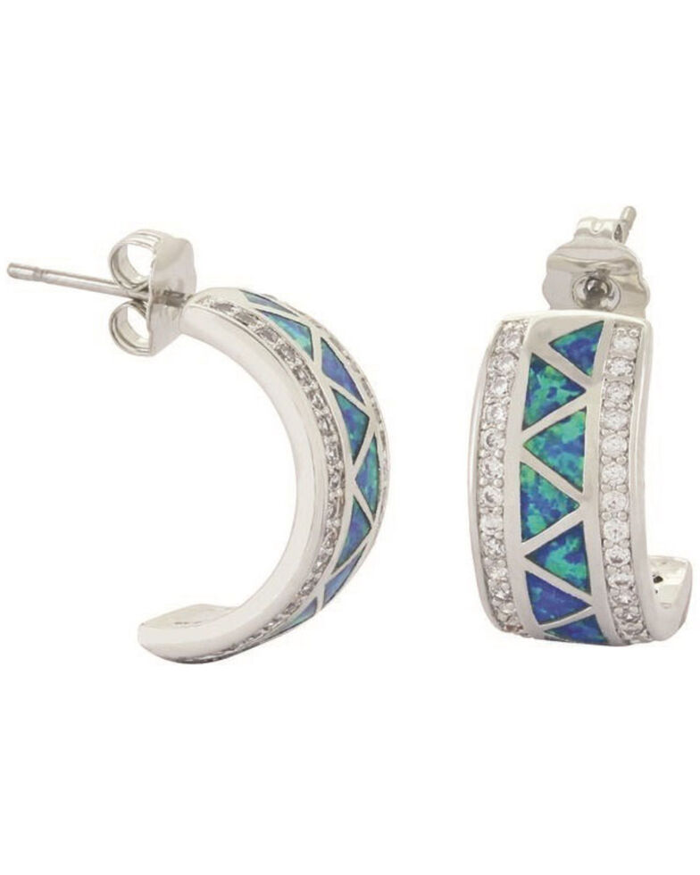 Montana Silversmiths Women's River Lights Walking Along The Water's Path Cuff Earrings, Silver, hi-res