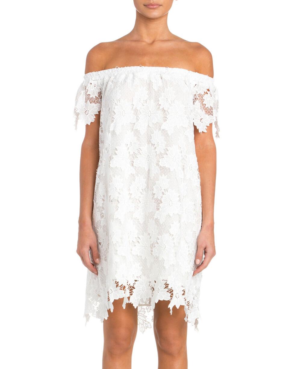 Miss Me Women's Off the Shoulder Lace Dress, White, hi-res