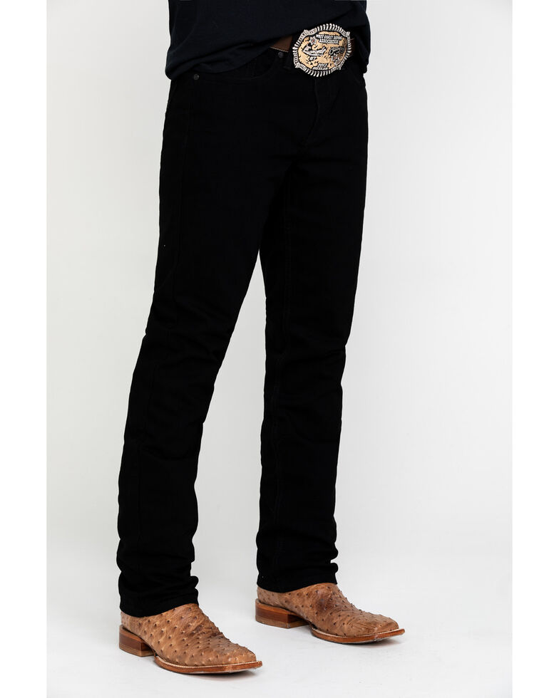 Cody James Men's Night Rider Rigid Slim Straight Jeans , Black, hi-res