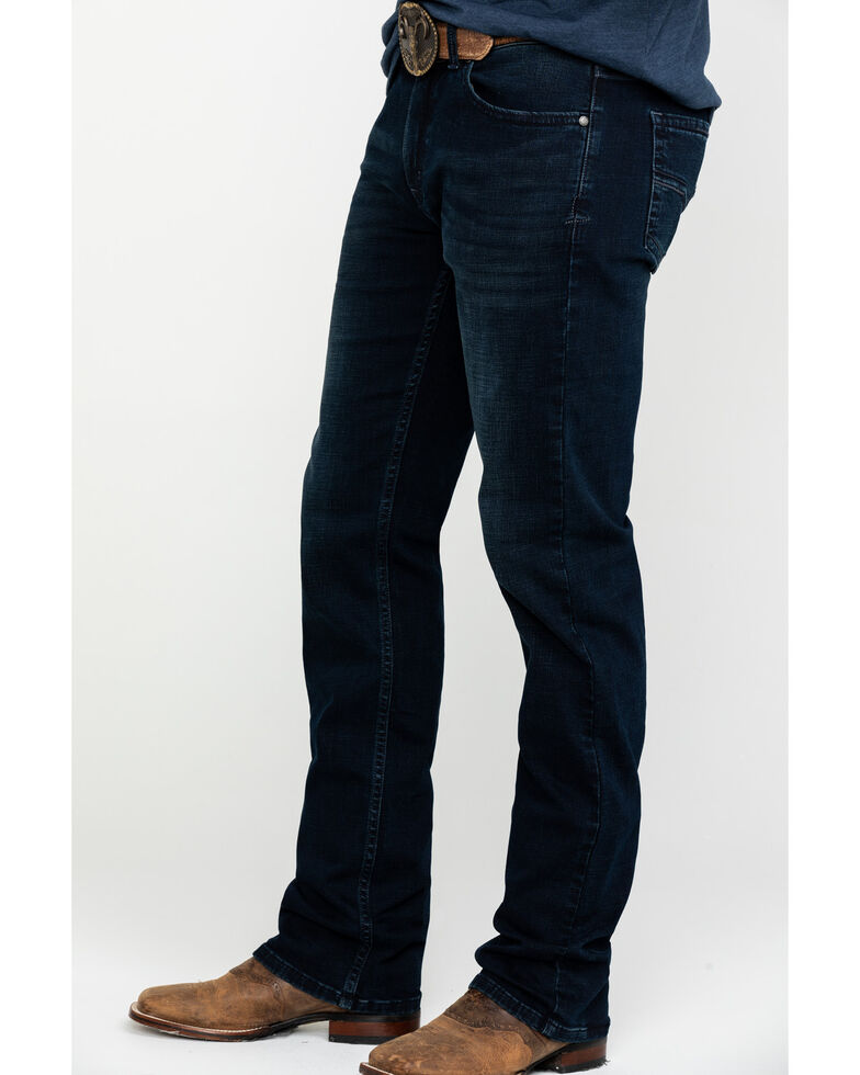 Moonshine Spirit Men's Nightfall Dark Slim Boot Cut Jeans , Indigo, hi-res