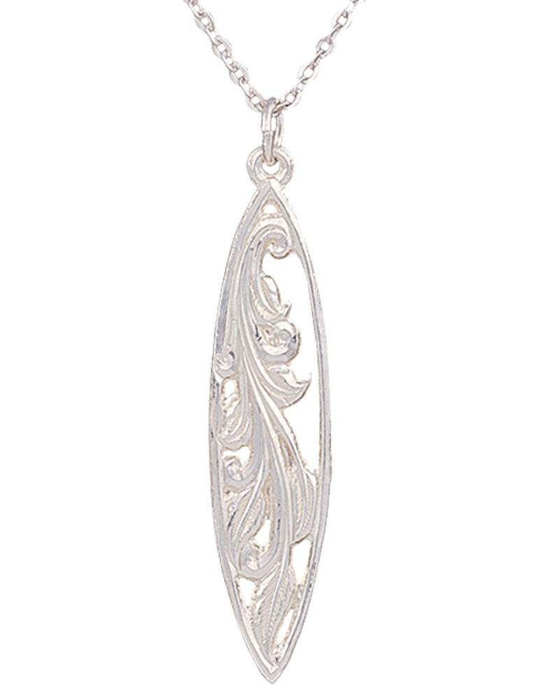 Montana Silversmiths Western Lace Marquise Grace Necklace, Silver, hi-res