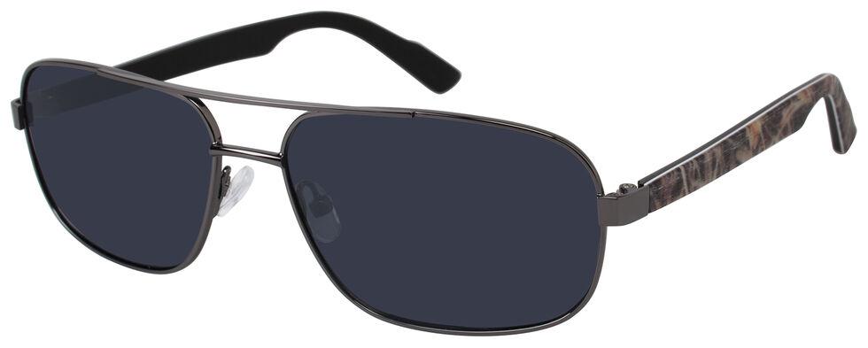 Realtree Gunmetal Max-4 Navigator Polarized Sunglasses, Black, hi-res