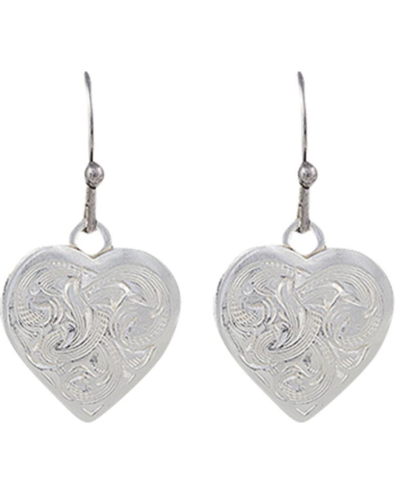 Montana Silversmiths Classic Montana Heart Swinging Earrings, Silver, hi-res