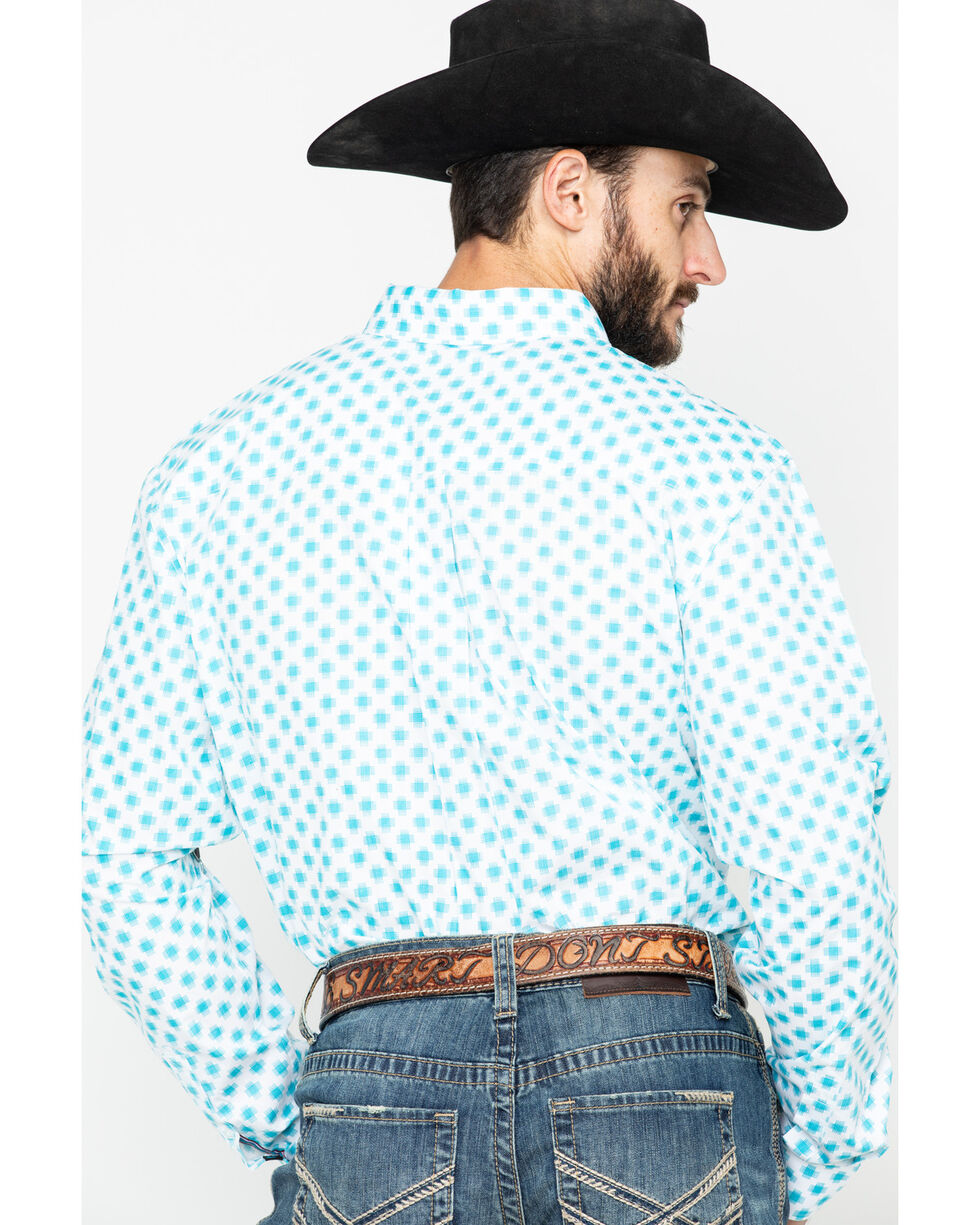 Cody James Core Men's Astro Geo Long Sleeve Western Shirt , White, hi-res