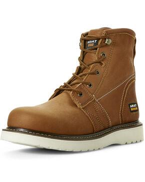Ariat Men's Rebar Wedge Waterproof Work Boots - Composite Toe, Tan, hi-res