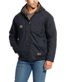 Ariat Men's Grey Rebar DuraCanvas Hooded Jacket - Big , Black, hi-res
