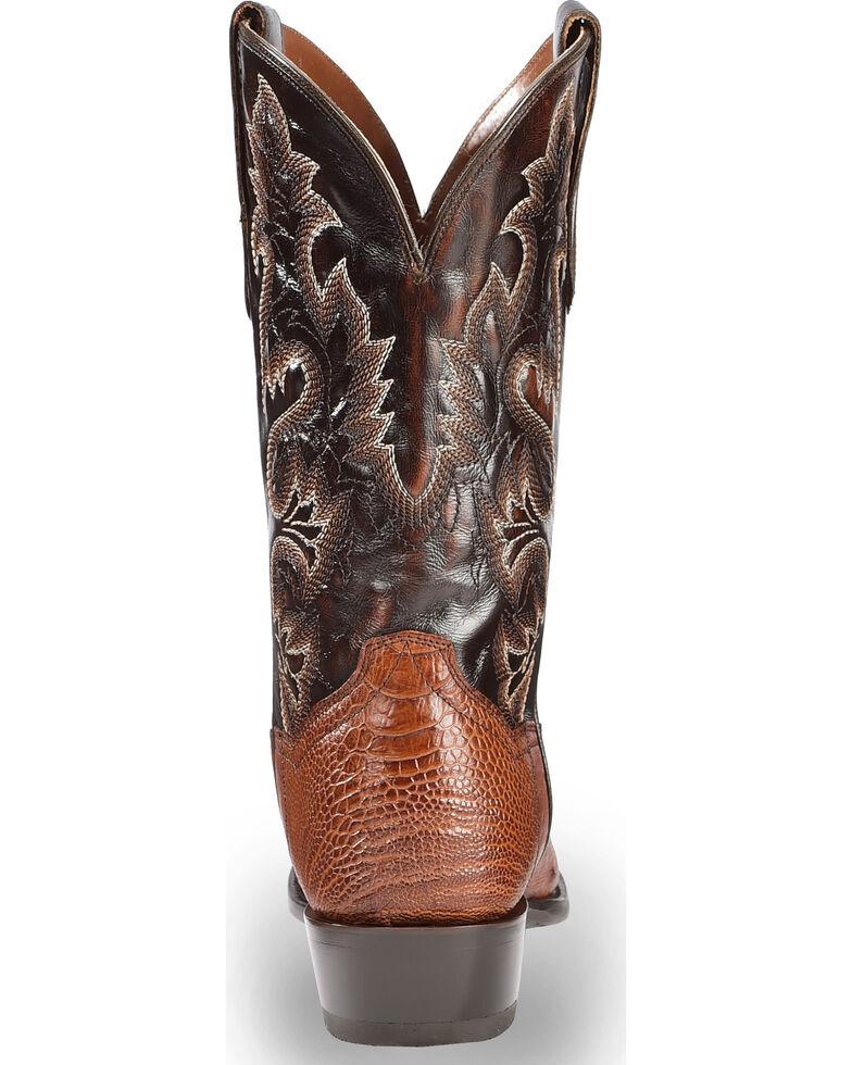 Dan Post Men's Ostrich Leg Cowboy Boots - Medium Toe, Cognac, hi-res