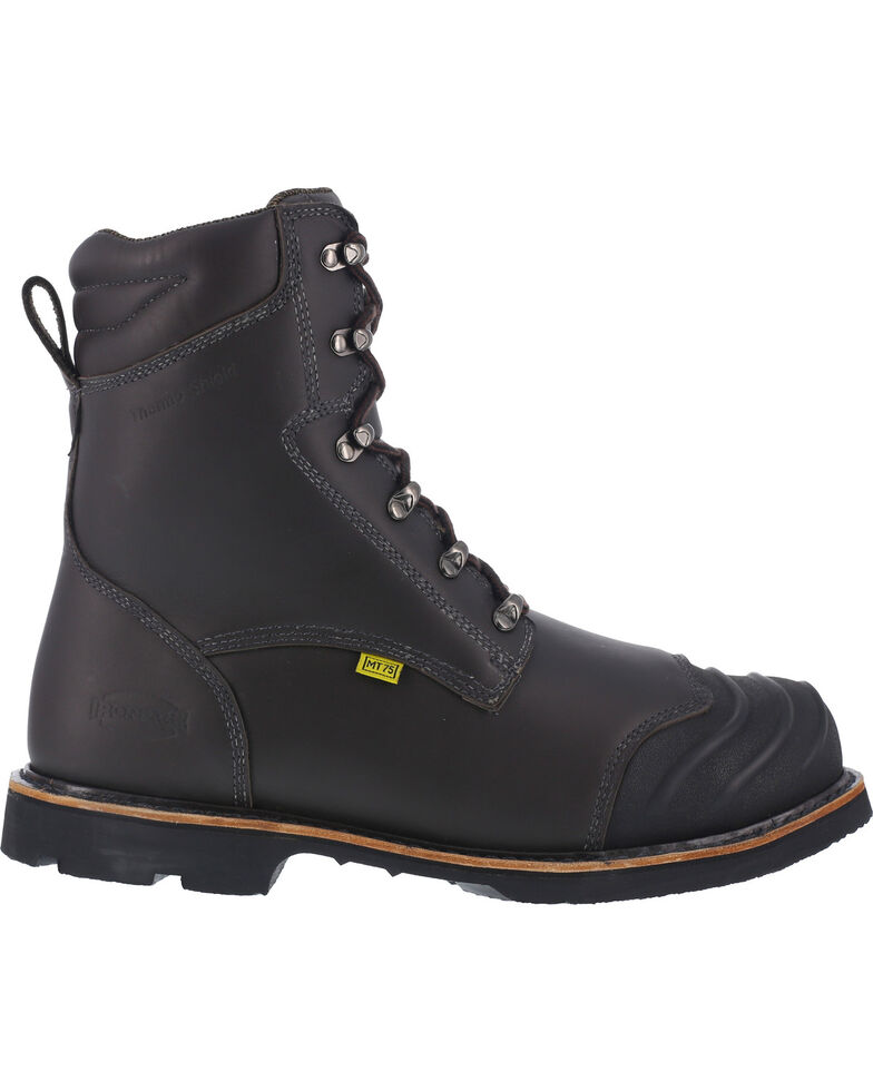 """Iron Age Men's 8"""" Thermos Shield Work Boots - Composite Toe, Black, hi-res"""