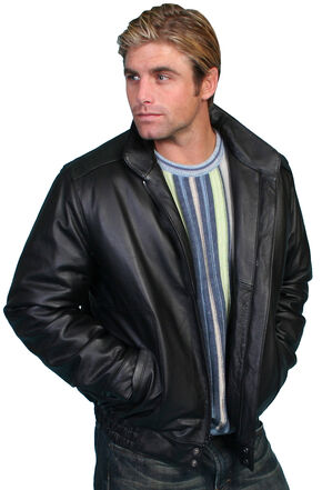 Scully Top Grain Calfskin Leather Jacket, Black, hi-res