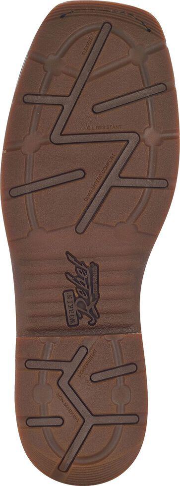Durango Rebel Men's Pull-On Western Work Boots - Steel Toe, Brown, hi-res