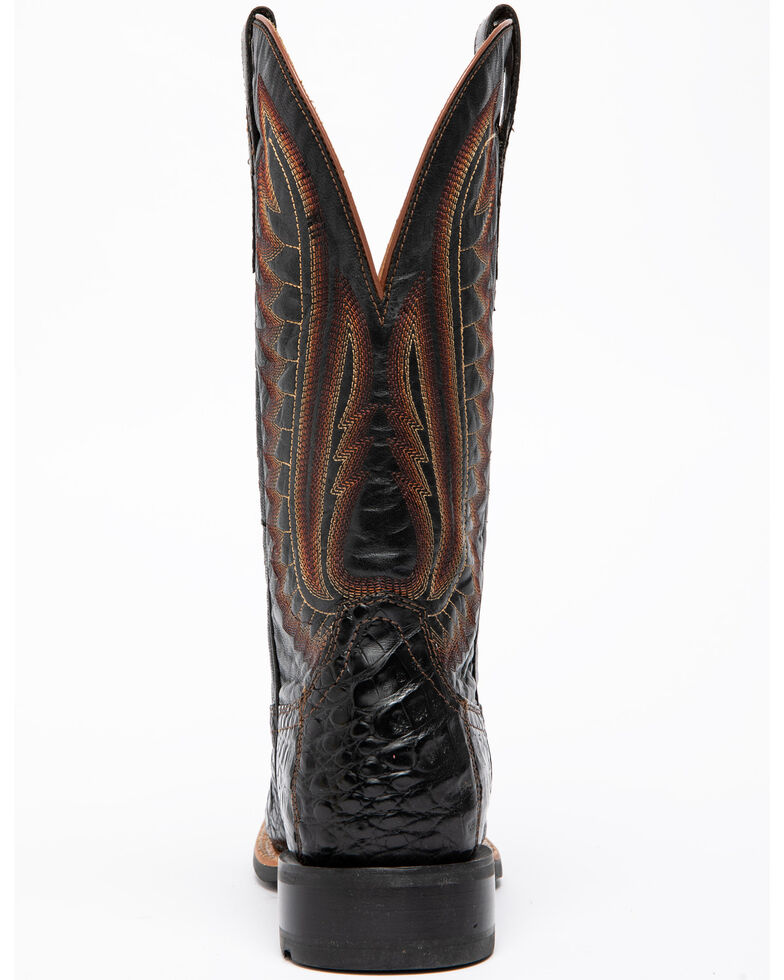 Ariat Men's Double Down Caiman Belly Cowboy Boots - Square Toe, Black, hi-res