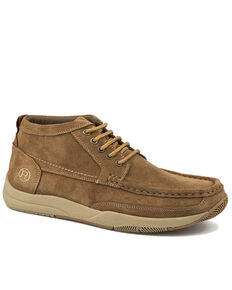 Roper Men's Clearcut Tan Driving Shoes - Moc Toe, Tan, hi-res