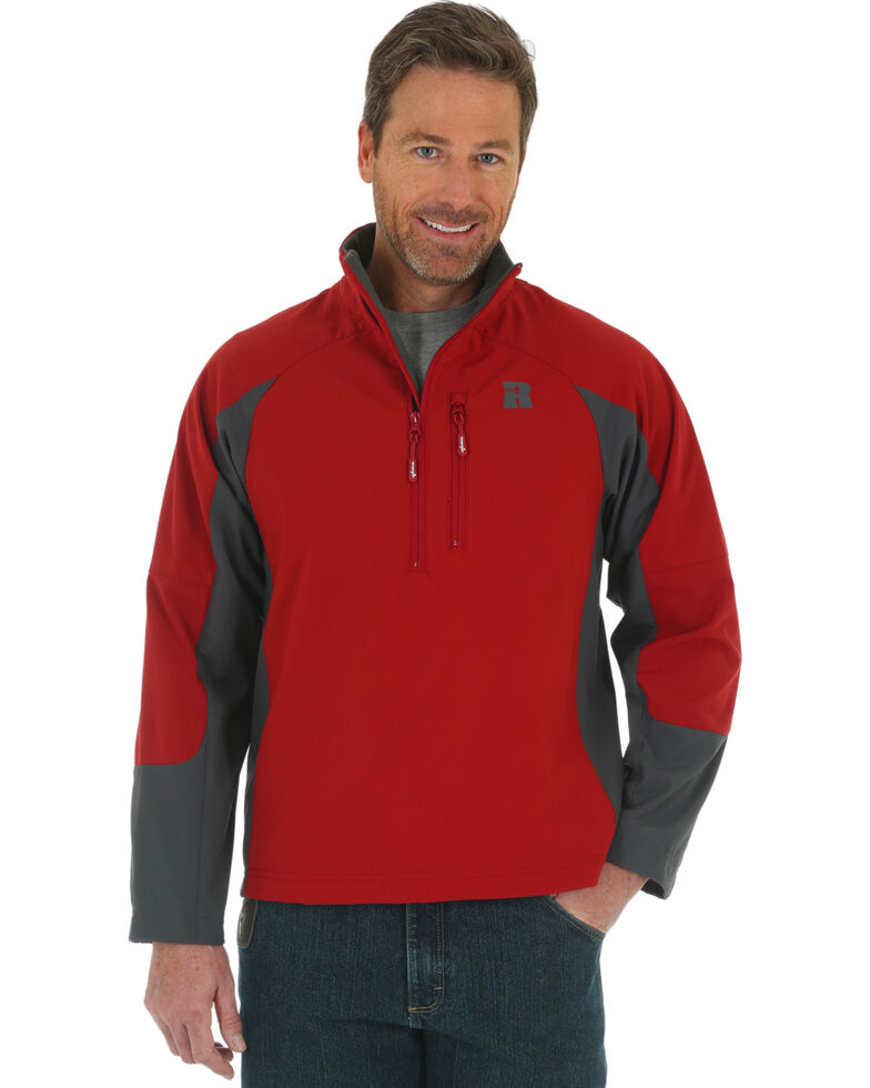 Wrangler Riggs Workwear Men's Technician Softshell Jacket, Red, hi-res