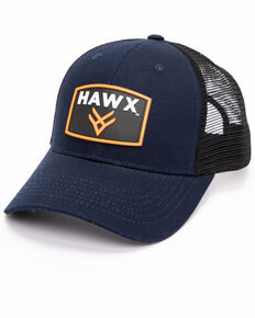 Hawx® Men's Navy Rubber Patch Trucker Cap, Navy, hi-res