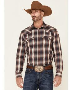 Cody James Men's Runner Large Plaid Long Sleeve Snap Western Shirt - Big & Tall, Medium Red, hi-res