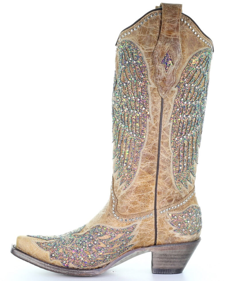 Corral Women's Sand Wings Western Boots - Snip Toe, Sand, hi-res