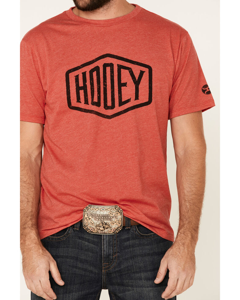 HOOey Men's Red Plush Logo Graphic T-Shirt , Red, hi-res