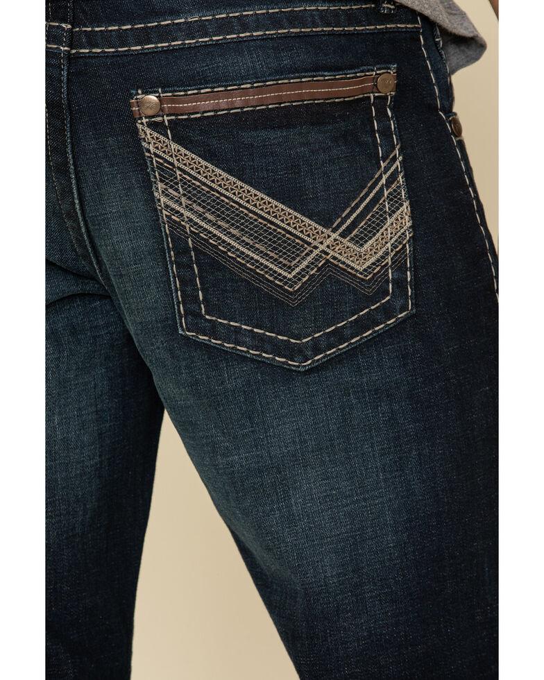 Rock 47 By Wrangler Men's Stadium Rock Stretch Slim Bootcut Jeans , Blue, hi-res