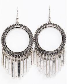 Idyllwind Women's Tex Girl Fringe Hoop Earrings, Silver, hi-res