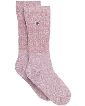 UGG Women's Dusk Rib Knit Slouchy Crew Socks , Dark Grey, hi-res