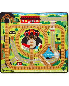 Melissa & Doug Round The Rails Train Rug , No Color, hi-res
