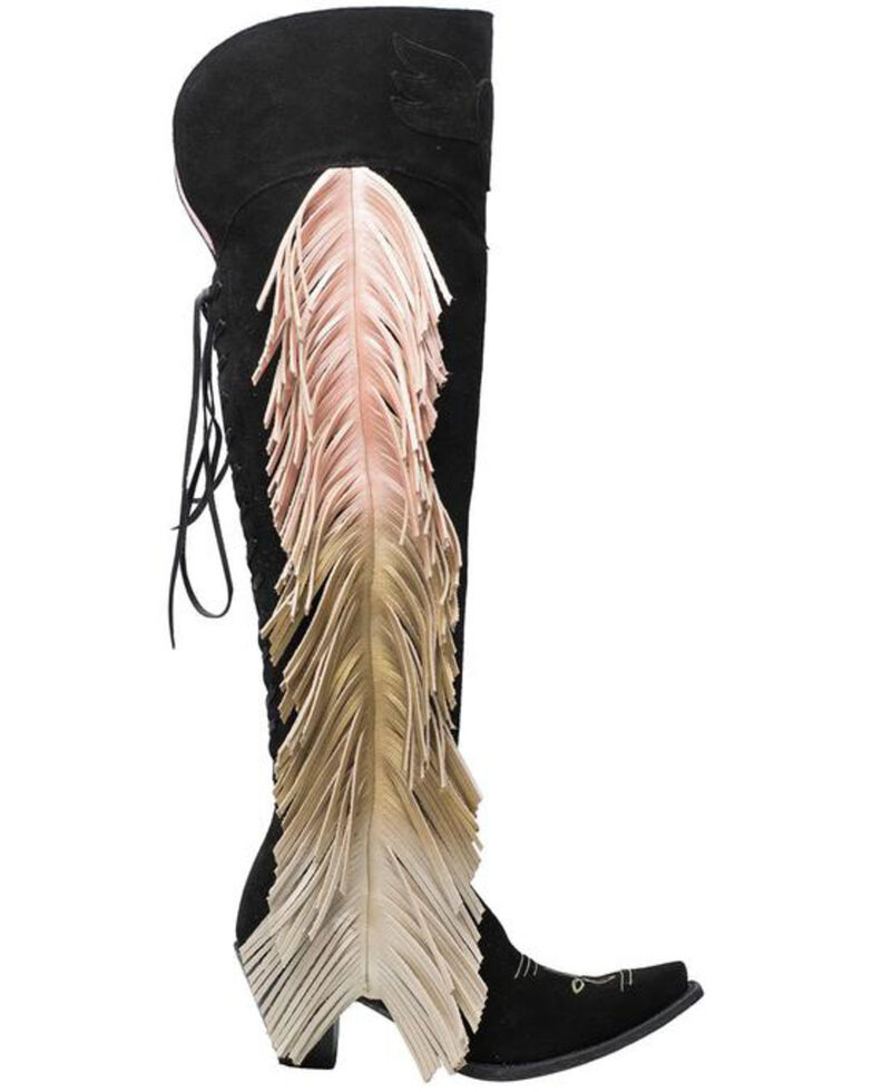 Junk Gypsy Women's Spirit Animal Western Boots - Snip Toe, Black, hi-res