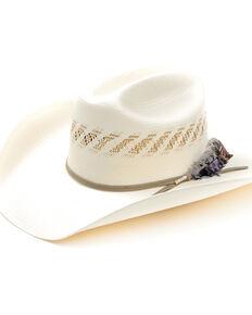 "Larry Mahan Men's Tan 4"" 10X Cowboy USA Straw Western Hat , Tan, hi-res"