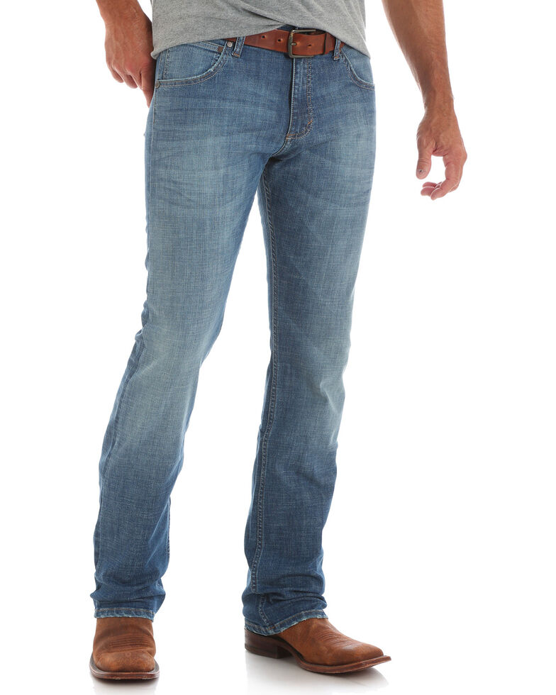 Wrangler Retro Men's Pinesdale Slim Straight Jeans , Blue, hi-res