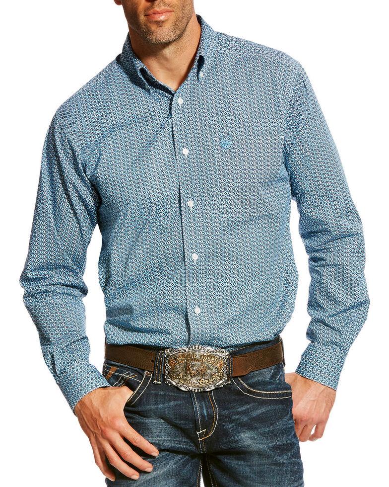 Ariat Men's Blue Adderson Stretch Geo Print Long Sleeve Western Shirt , Multi, hi-res