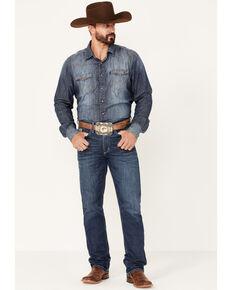Cinch Men's Silver Label Medium Wash Rigid Slim Straight Jeans , Light Blue, hi-res