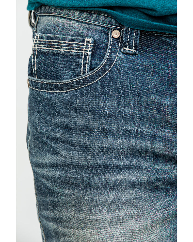 Rock & Roll Denim Men's Reflex Double Barrel Vintage Stretch Relaxed Straight Jeans , Blue, hi-res