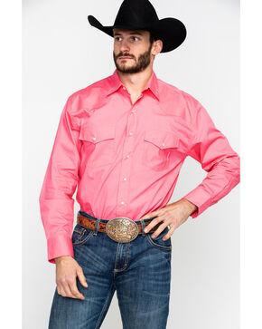 Resistol Men's Florence Solid Long Sleeve Western Shirt , Pink, hi-res