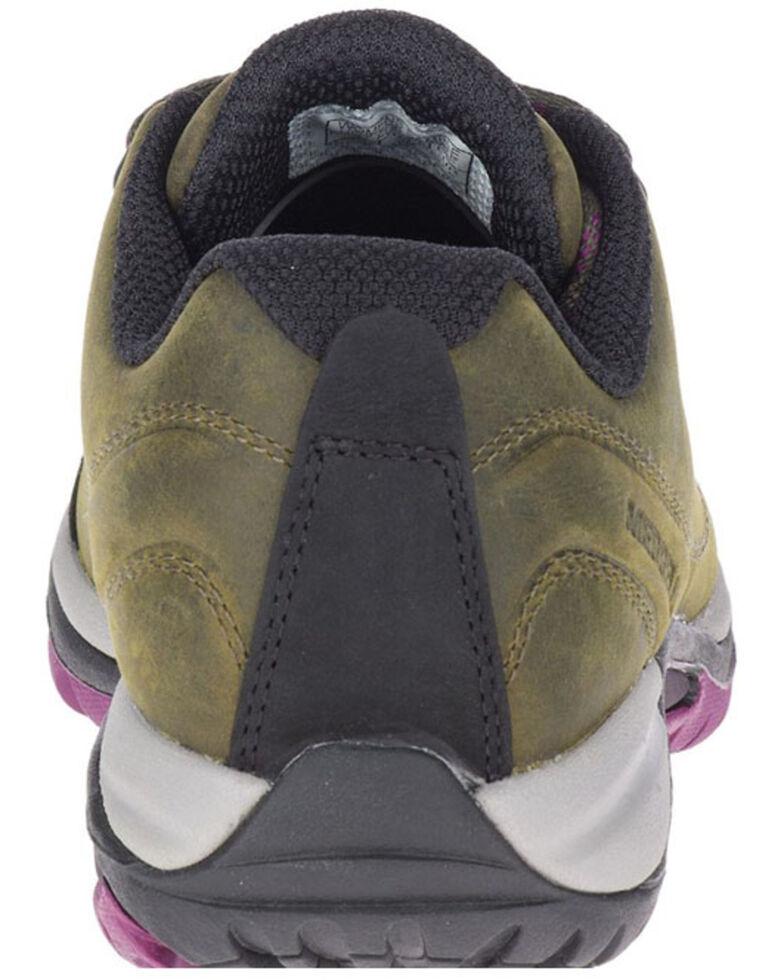Merrell Women's Siren Traveller 3 Hiking Shoes - Soft Toe, Green, hi-res