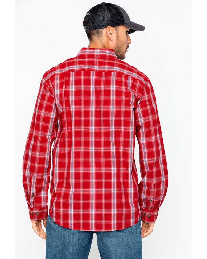 Carhartt Men's Essential Plaid BDC Work Shirt, Red, hi-res