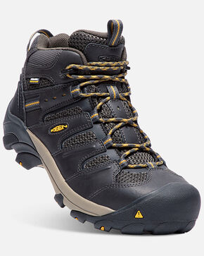 Keen Men's Lansing Waterproof Work Boots - Steel Toe, Black, hi-res