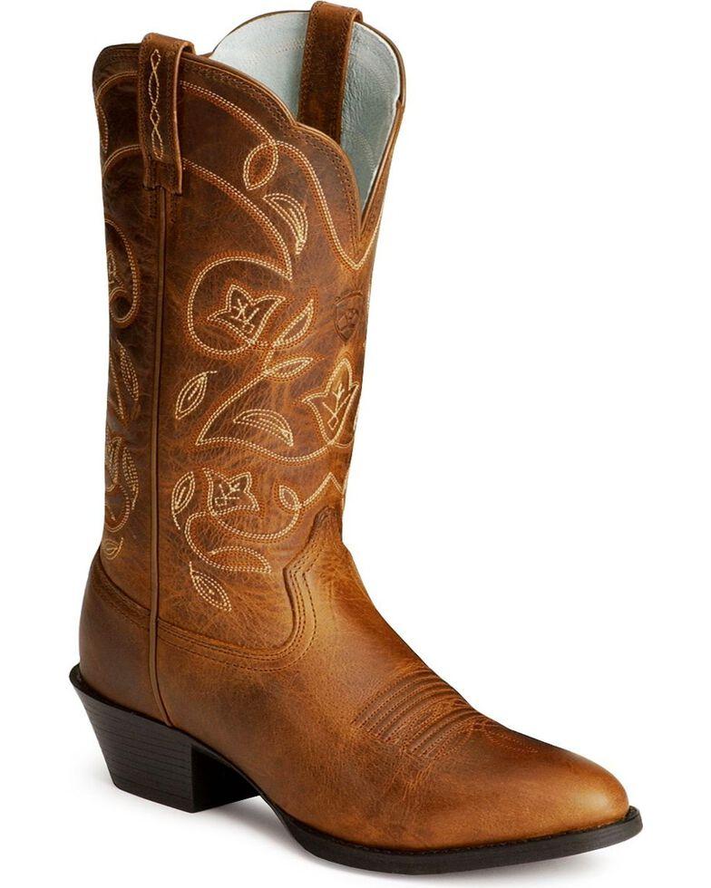 Ariat Heritage Western Cowgirl Boots - Medium Toe, Russet, hi-res