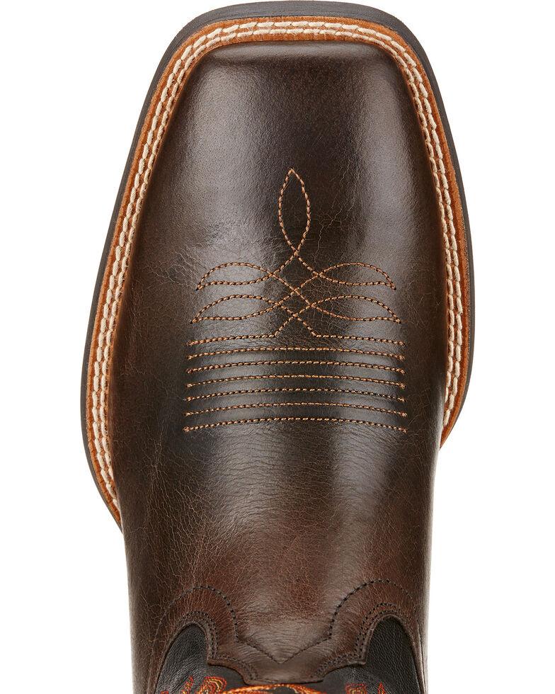 Ariat Sport Rider Cowboy Boots - Square Toe , Chocolate, hi-res